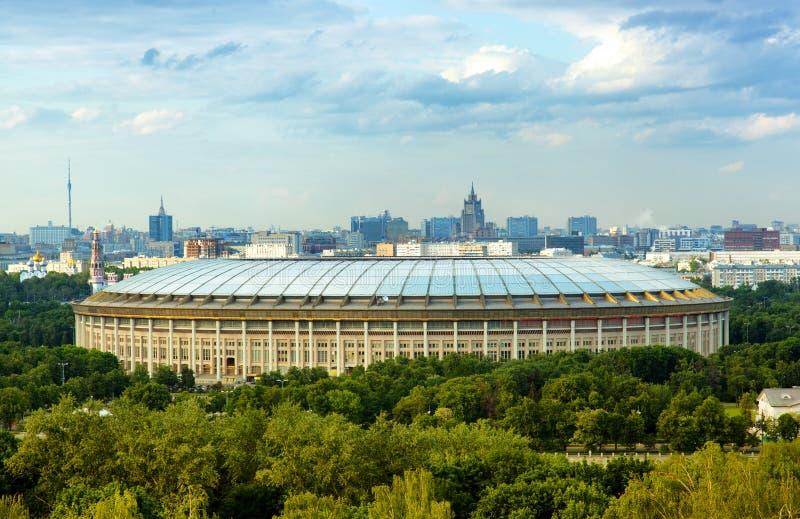 Big sports arena in Luzhniki, Moscow royalty free stock photo