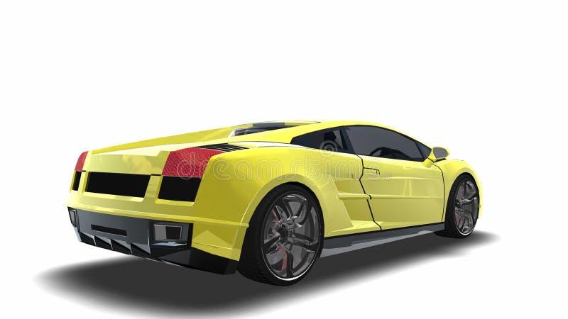 Big Sports Car Stock Illustration