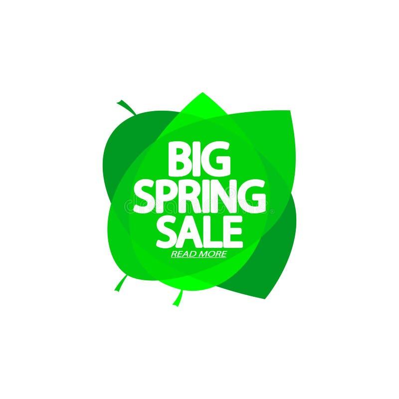 Big Spring Sale, bubble banner design template, discount tag, app icon, vector illustration. Big Spring Sale, isolated bubble banner design template, best royalty free illustration