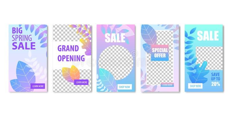 Big Spring Sale Grand Opening Special Offer Banner stock illustration