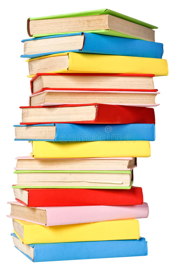 Download Big Stack Of Books In Hard Cove Stock Photo - Image: 23666266