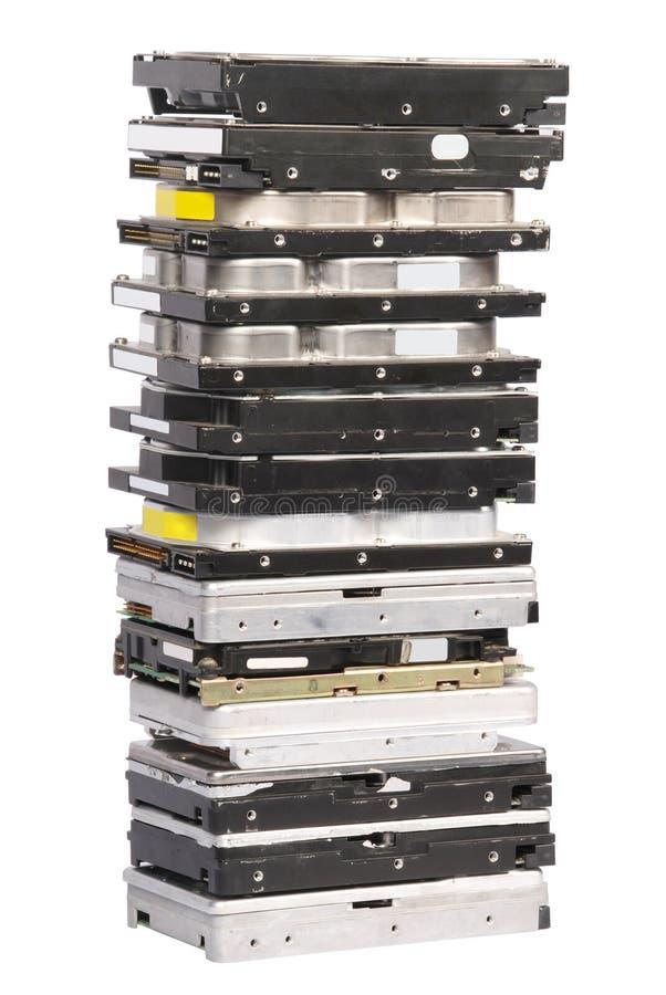 Big stacked Hard drives