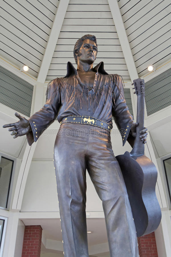 Big statue of Elvis at Tennessee Tourism Office stock image