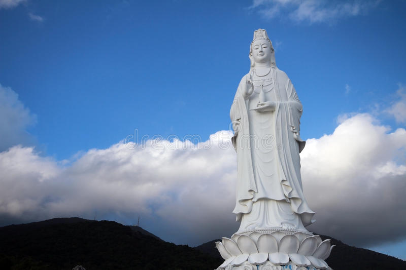 Big Statue of Guanyin stock photography