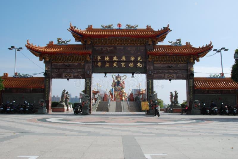 Xuan-tian-shang-di Taoist God. A big statue of taoist god on Lotus Pond in Kaohsiung, Taiwan stock photos
