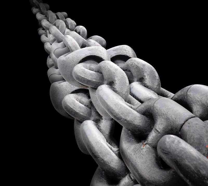 Download Big Steel Chain On Black Background Stock Image - Image: 38921355
