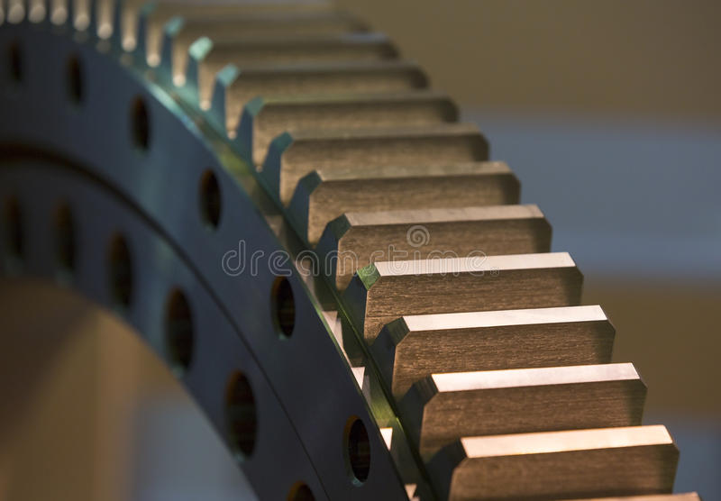 Big steel gear stock image