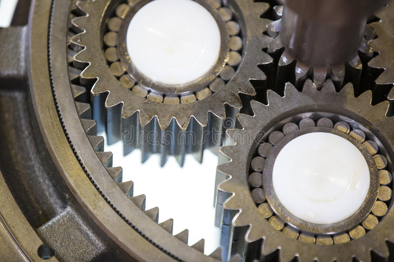 Big steel gear royalty free stock photos