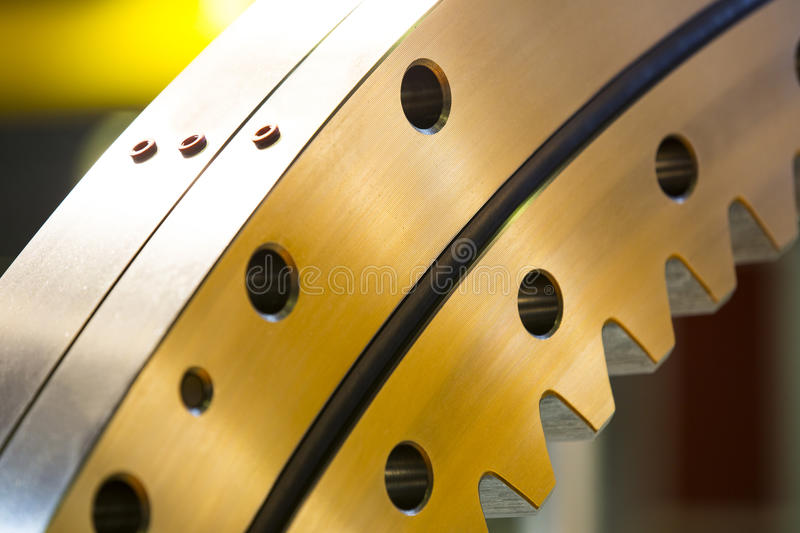 Big steel gear. Shot close-up photo royalty free stock photography