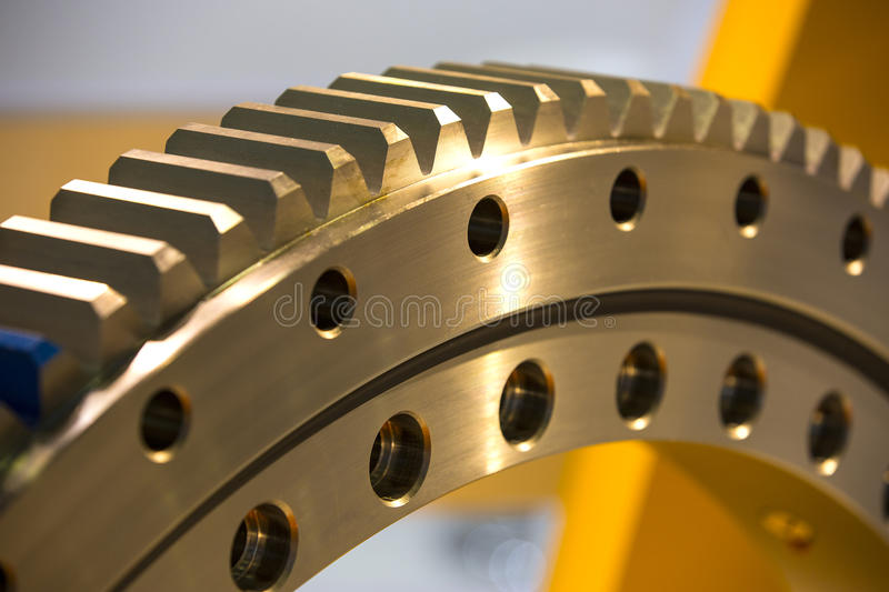 Big steel gear. Shot close-up photo royalty free stock images