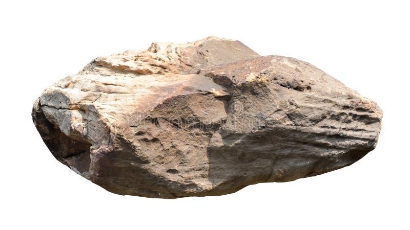 Large White Granite Rock : Big stone on white background stock image of large