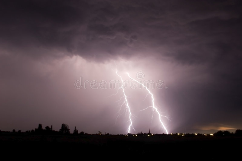 Big storm stock photography