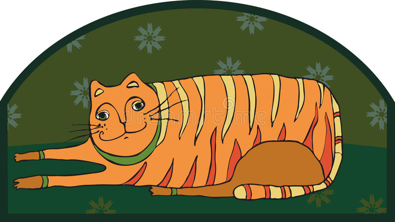 Download Big Striped Cat stock vector. Image of cute, cheerful - 24242449