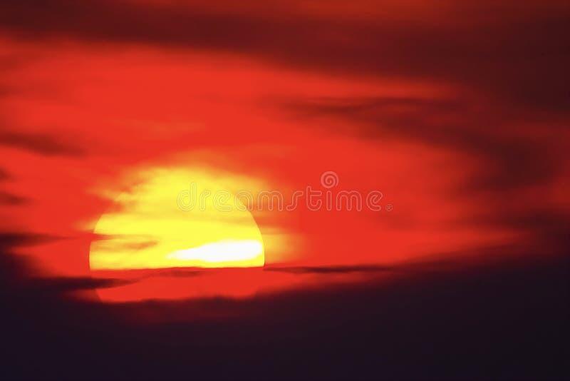 Big sun sunset sky orange sky red sunright outdoor summer nature landscape backgound royalty free stock photo