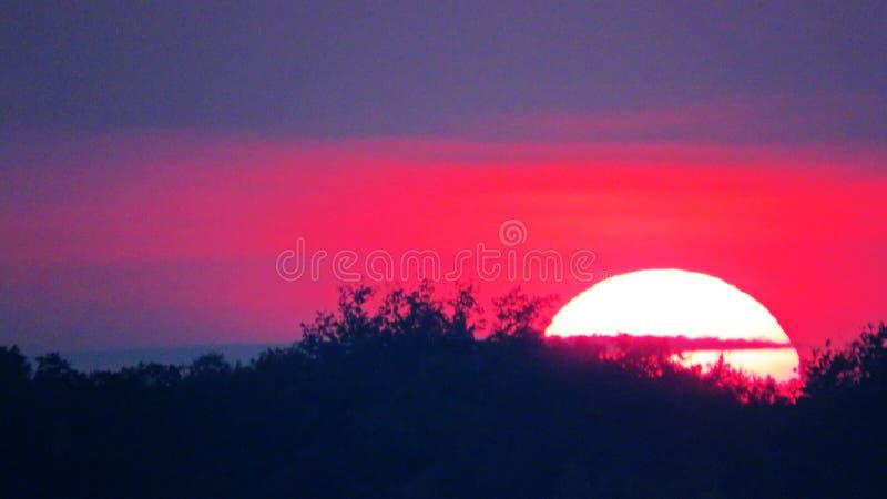 Big sunset stock image