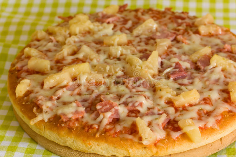 Big Supreme Pizza in pan. A juicy big Supreme Pizza in pan royalty free stock photos