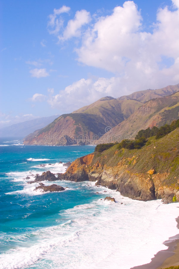 Download Big Sur CA-1 Highway stock image. Image of water, pacific - 658281