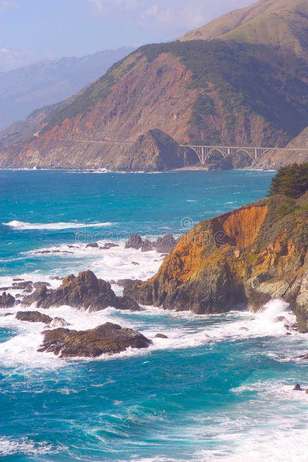 Big Sur CA-1 Highway Stock Photography