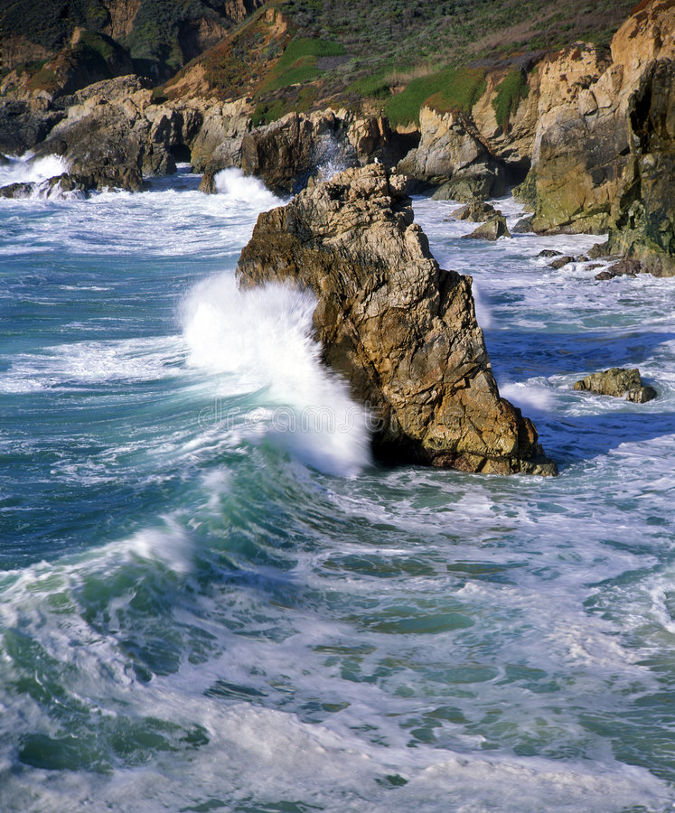 Download Big Sur Coast 4 stock photo. Image of cliff, boulders, water - 777734