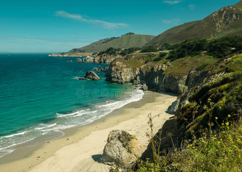The Big Sur coast stock photos