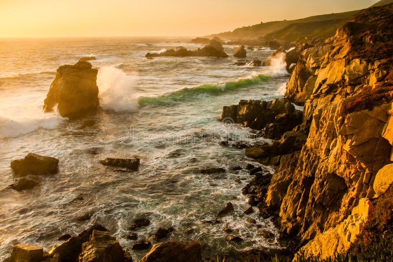 Download Big Sur Coastine stock photo. Image of coast, splash - 40059666