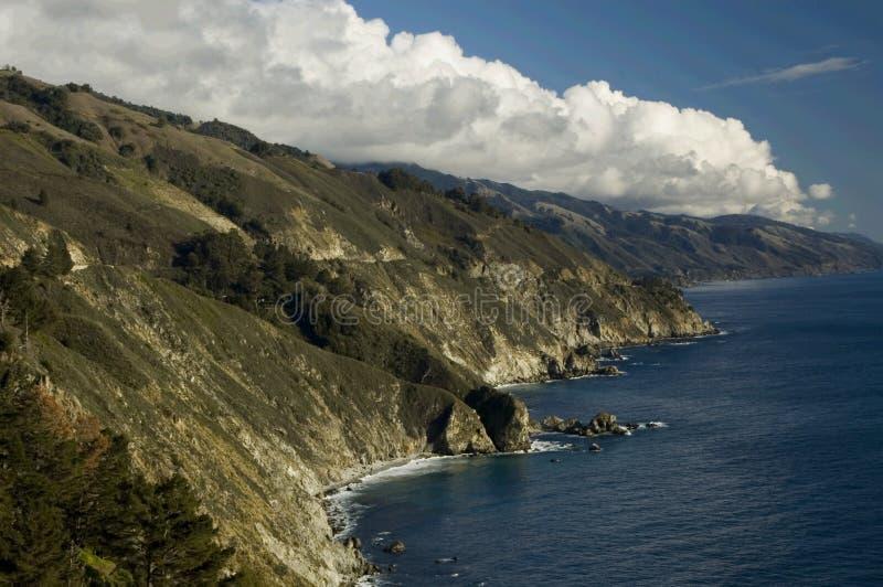 big sur linię brzegową fotografia stock