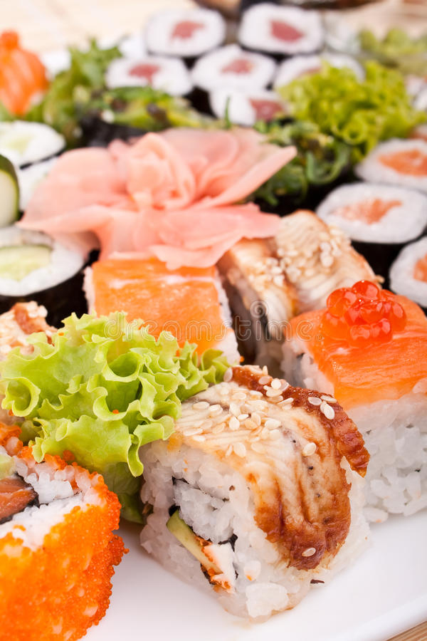 Big Sushi Set Stock Photography