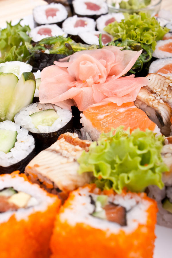 Download Big sushi set stock image. Image of culinary, ginger - 10828229
