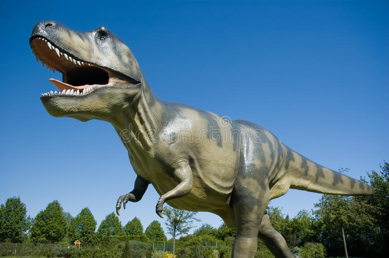 Big T-Rex. In a Park royalty free stock photography