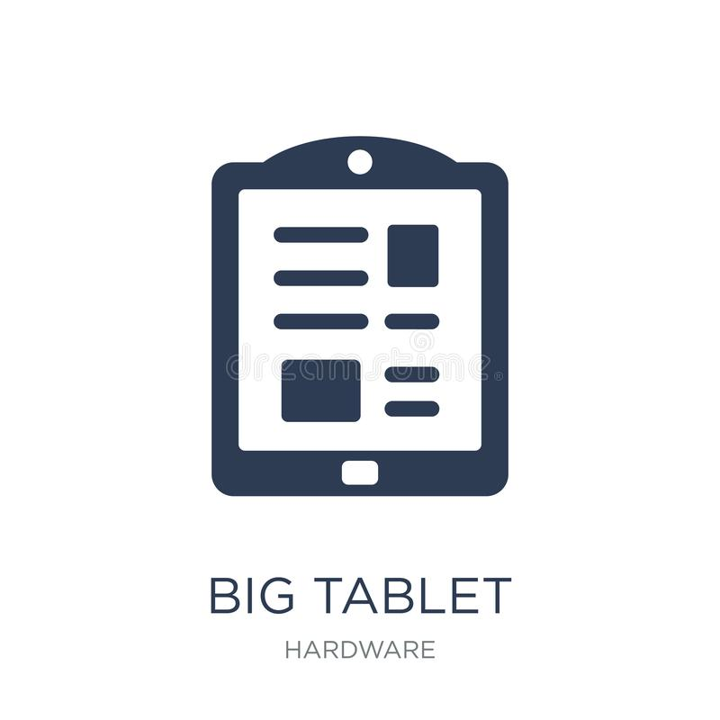 Big Tablet icon. Trendy flat vector Big Tablet icon on white background from hardware collection vector illustration