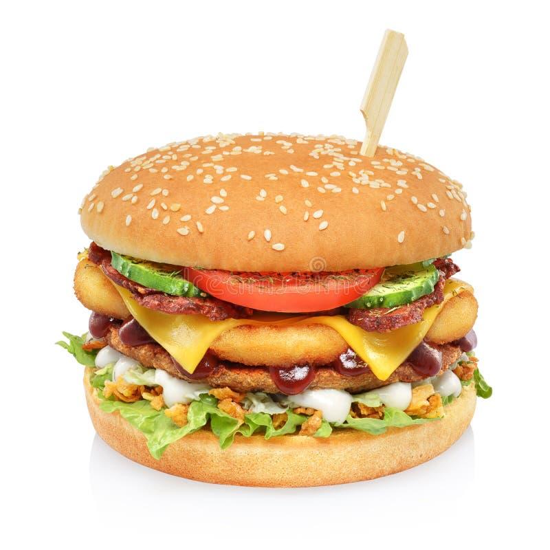 Free Big Tall Hamburger Isolated Stock Image - 141501481