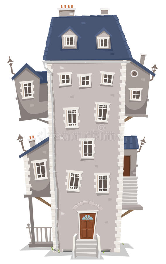 Building A New House Cartoon : Big tall house building stock vector illustration of