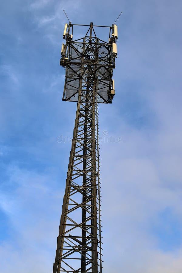 Telecommunication Room Design: Telecommunication Tower Close Up Stock Photo