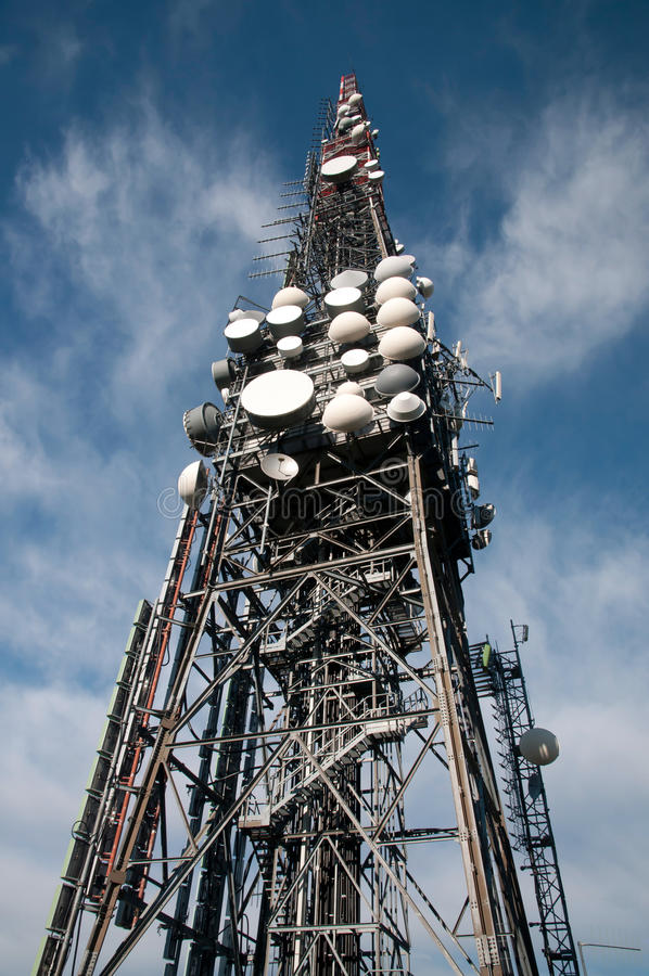 Download Big television tower stock photo. Image of reception - 21536840