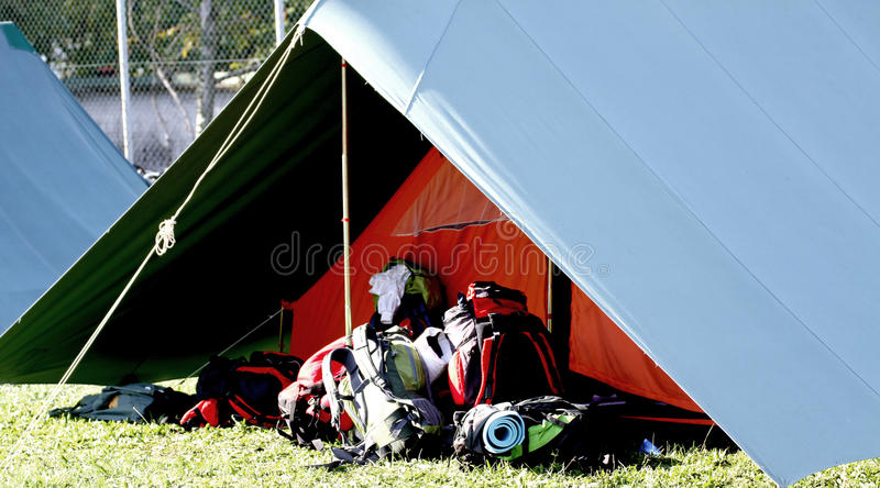 Download Big Tent Of Boy Scout Camp And The Rucksack Stock Image - Image: 34392585