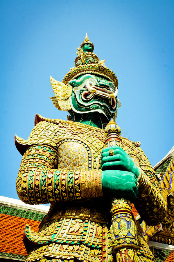 The Big of Thailand. The bigest in thailand smaile , in the teple of thailand royalty free stock photos