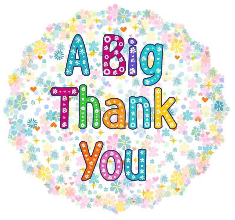 Big thank you greeting card stock illustration