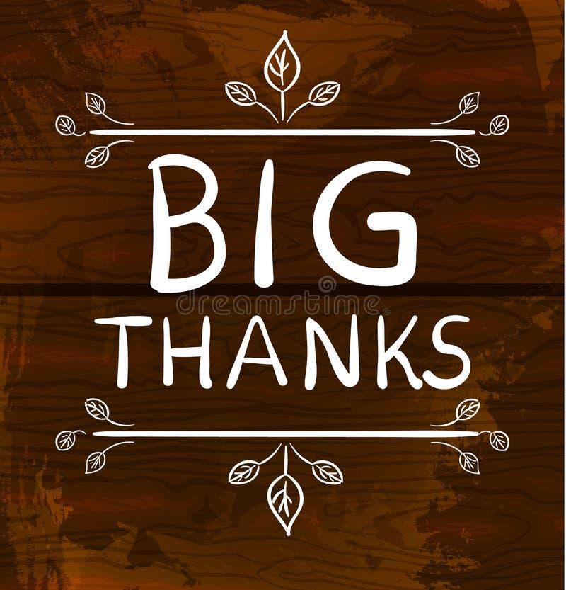BIG THANKS Card Templates. Big Thanks. VECTOR Handwritten Words ...