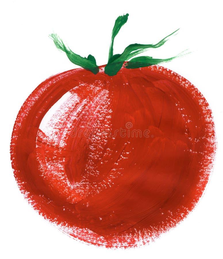 Download Big tomato stock illustration. Image of fresh, paint - 15407600