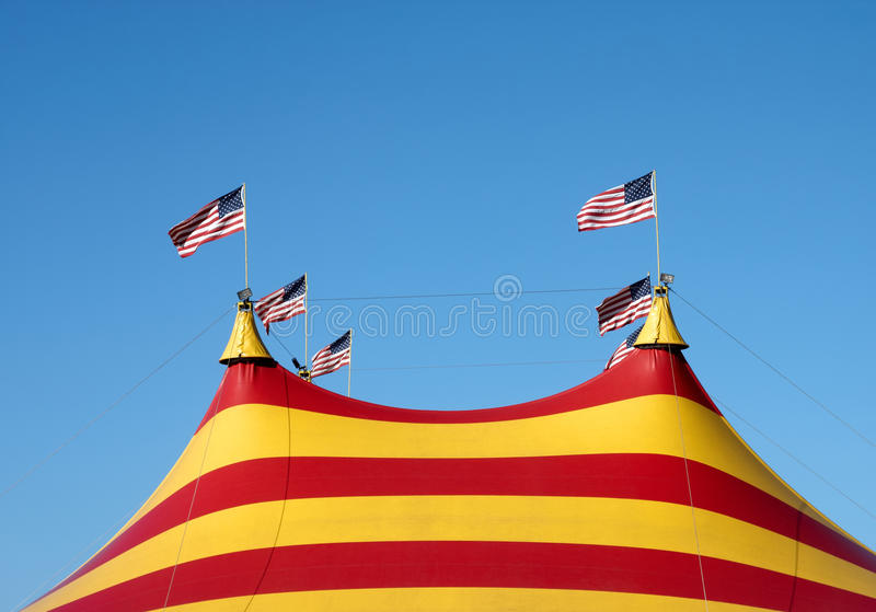 Download Big Top stock photo. Image of circus, stripes, roof, flags - 22635362