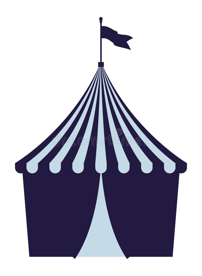 Big top circus with flag royalty free illustration