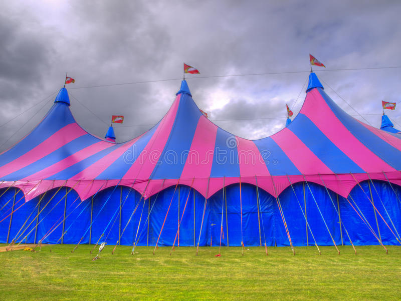 Big Top Circus Tent On A Field Stock Image Image Of