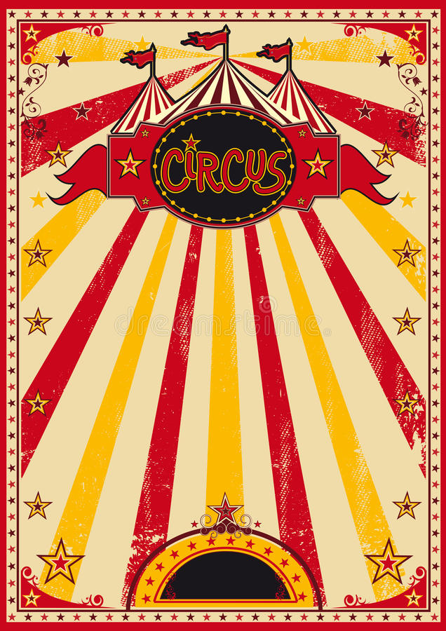 Big top fun poster stock illustration image of grunge for Circus posters free