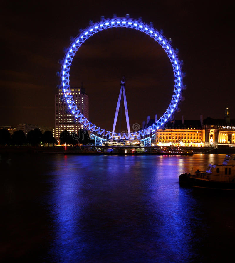 Download Big Touristic Wheel Shining In The Night Editorial Stock Photo - Image: 15522798