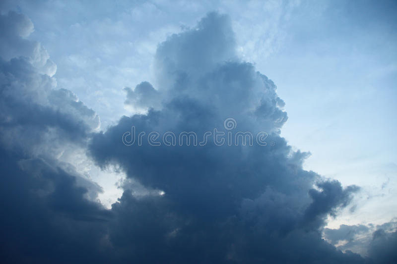 Big tower of clouds in blue sky royalty free stock photos