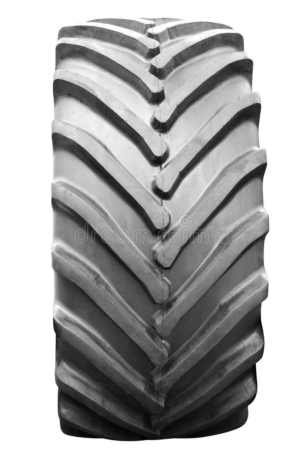 Big tractor tire isolated royalty free stock images for Big tractor tires for free