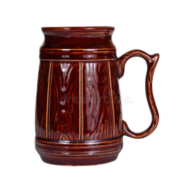 Big traditional ceramic mug royalty free stock images