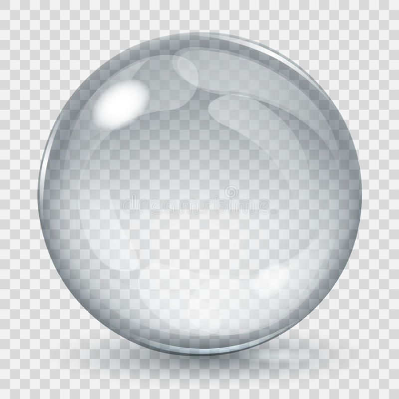 Big transparent glass sphere royalty free illustration