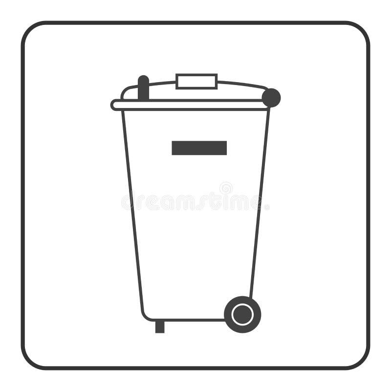 Big trash bin icon vector illustration