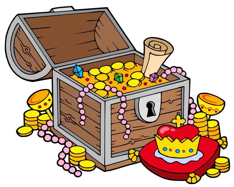 Big treasure chest royalty free illustration